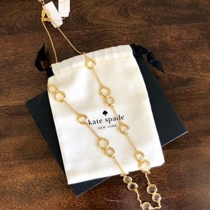 Kate Spade Gold necklace with stones